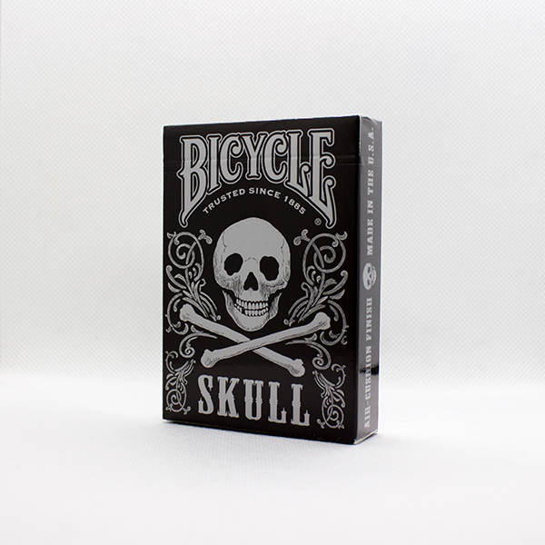 Bicycle Skull Metallic Silver Deck by Gambler's Warehouse