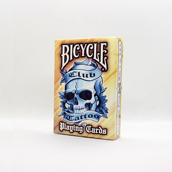 Bicycle Club Tattoo Orange Deck by USPC