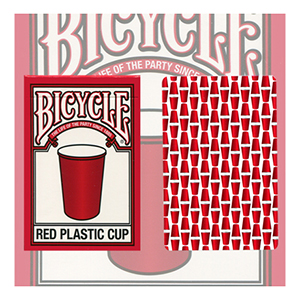 Bicycle Red Plastic Cup Deck by USPC