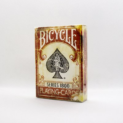 Bicycle Vintage 1800 Marked Red Deck by Ellusionist