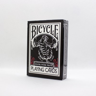 Bicycle Black Tiger Red Deck by Ellusionist