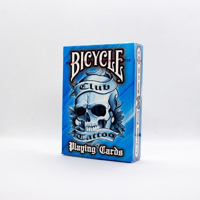 Bicycle Club Tattoo Blue Deck by USPC