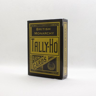 Tally-Ho British Monarchy Black Deck by LUX Playing Cards
