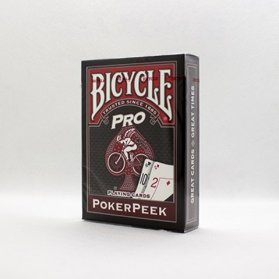 Bicycle Deck - Pro PokerPeek Edition (Red)