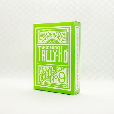 Tally-Ho Reverse Circle Back Green Deck by Aloy Studios