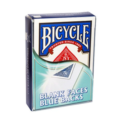 Bicycle Blank Faces / Blue Backs Deck